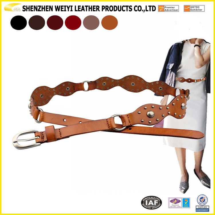 New Design Beautiful Leather Waist Belt For Lady Dress