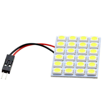 24SMD 5050 LED Auto Car Top Dome Light For Interior Reading Roof light T10 W5W BA9S Festoon Bulb
