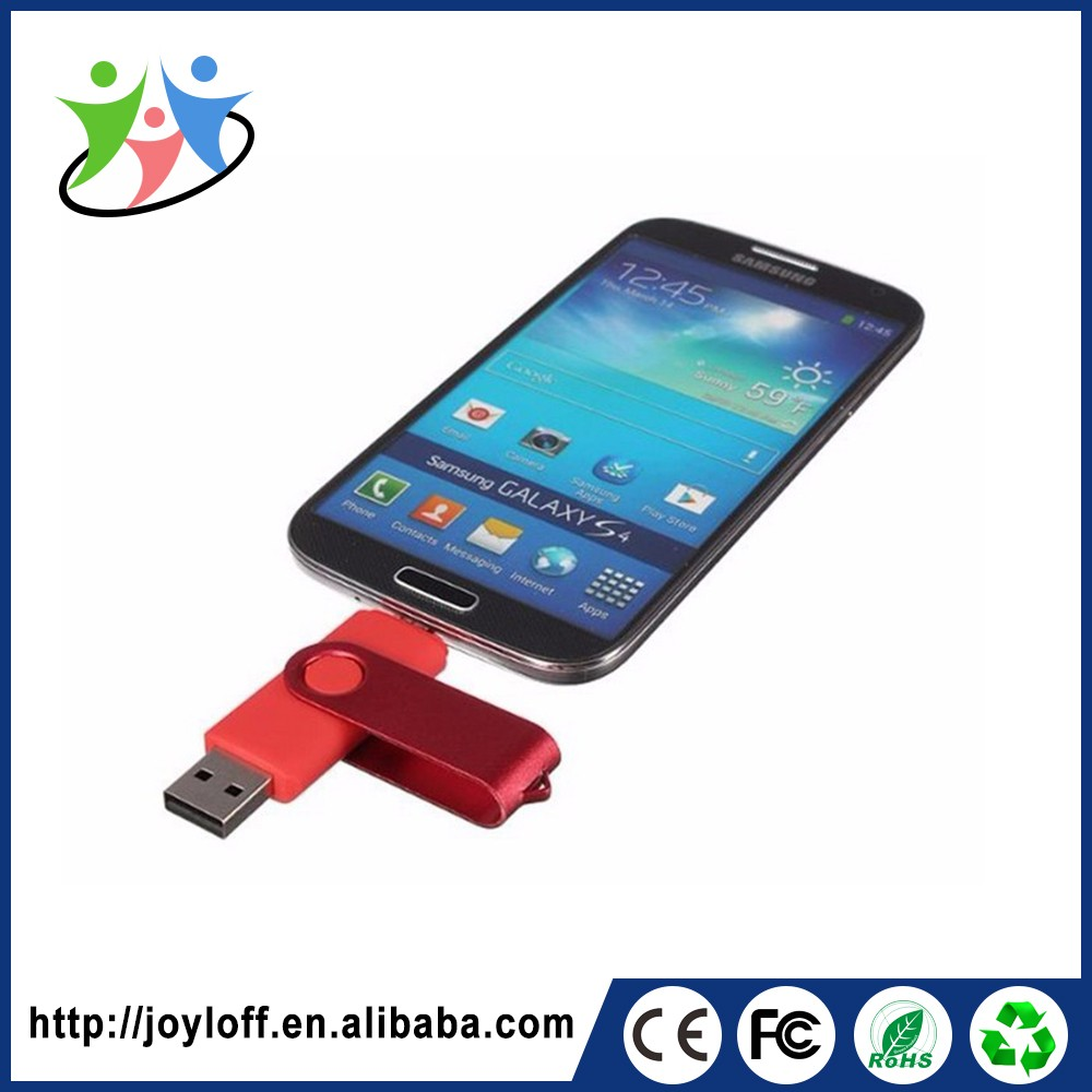 Volume Supply Dual Double Plug Interface Otg Mobile Phone Pc Metal Usb Flash Memory Disk