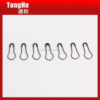 Black color pear safety pin with bulb shaped high quality