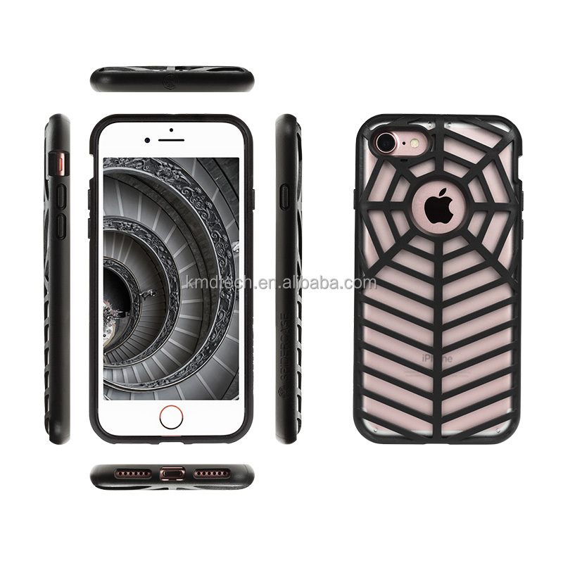 For iphone 7 Case New Spidercase curve design Ultra thin slim clear Shockproof Case 6 Color