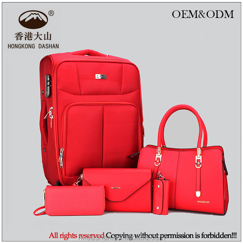 4 Wheels hot sale 4 Piece trolley bags luggages and handbags set travel case Carry-on Luggage suitcase Factory supplier OEM