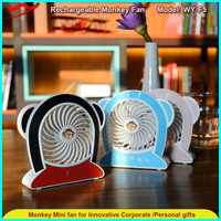 Monkey fan, new rechargeable portable usb super bladeless national fan for outdoor/indoor/gifts