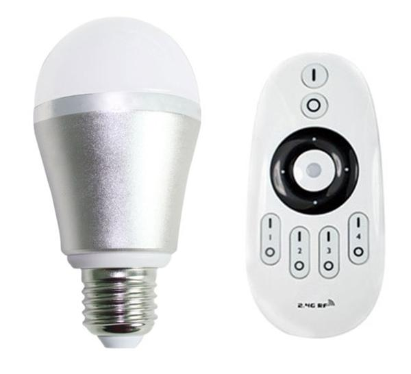 qualified 2.4G rf remote&wifi control 6w ww/cw outdoor use led light bulbs production line with CE&RoHS