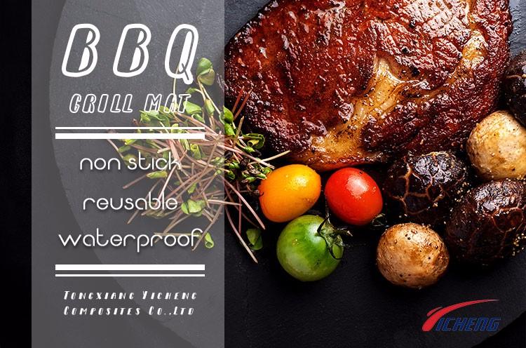 Réutilisable Téflon Grill Fiche Liner Tapis De Cuisson Barbecue Tapis Barbecue