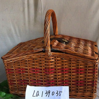 wicker baskets food hampers with lids and handle picnic baskets