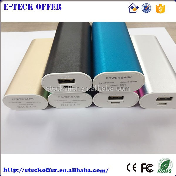 Smart Aluminum case Portable Power Bank 5600mah, Mobile Power Supplier Paypal available