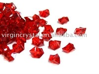 Acrylic Ice Crystal Table Scatters Fish Tank Decoration Deep Red