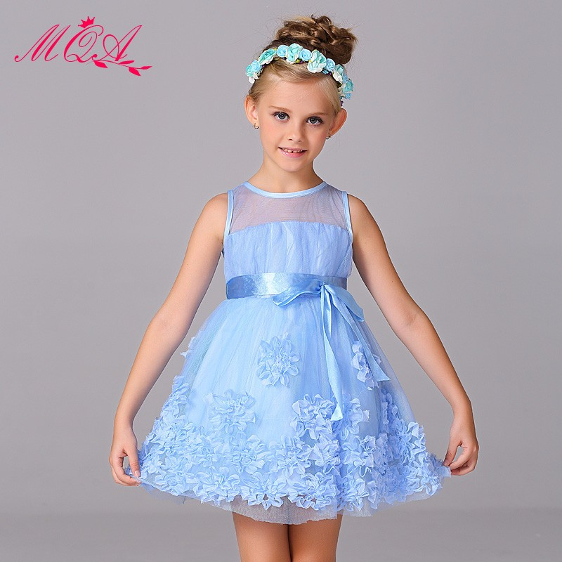 Fashion nets flower dress lace wedding dress flower girls party dresses for baby girl <strong>W003</strong>