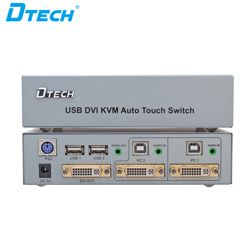 Hot Selling Hot-Key Button Push 1920 <strong>x</strong> <strong>1200</strong> HDCP USB/DVI KVM switch 2x1