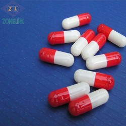 Red and yellow gelatin empty vegetable capsules separated or wholesale suppliers