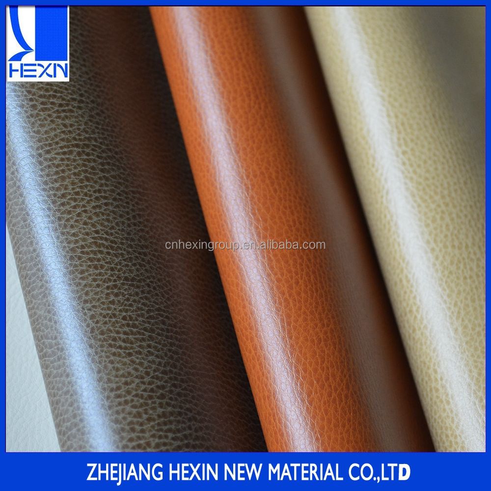 Hot sales1.0mm pu synthetic sofa leather material with printing and kneading for sofa