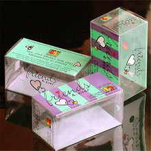 Good quality clear custom small clear flat plastic boxes