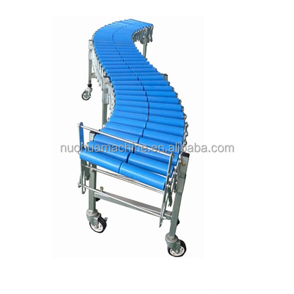 gravity plastic roller flexible transport conveyor system