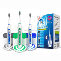 YASI FL-A12 NEW PATENT Rechargeable electric toothbrush with UV sanitizer base