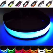 Amazon Top Seller Nylon Pet Night Light Up Flashing Super Bright USB Rechargeable LED Dog Safety Collar