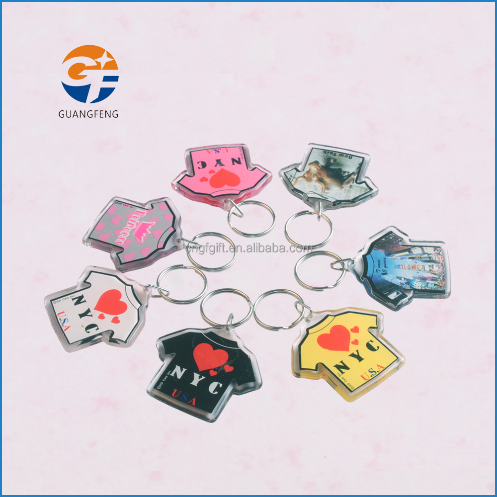 Promotion custom clear acrylic cloth keychain