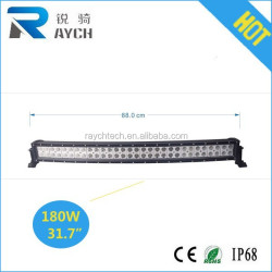 180w curved led light bar, Curved Led Light bar 30inch 180W for OFFROAD,4X4, ATVs, SUV, UTV Waterproof IP 68