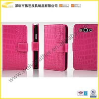 Pink Leather Cover With Card Holder Leather Wallet Case For Mobile Phone