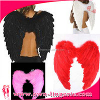 Colourful feather dress womens wings for party/halloween party