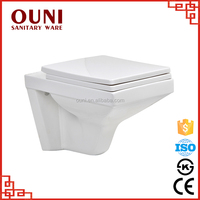 high quality square wall hung one piece toilet ON719
