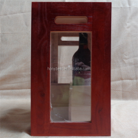 Transparent Wood Shipping bottle gift boxes for wine,beer,liquor