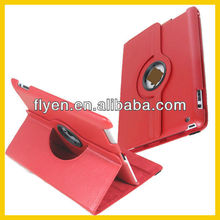 Red 360 Rotating Magnetic PU Leather Case Smart Cover Swivel Stand For The New iPad 3 For iPad 4 / 2 Wholesale Good Price