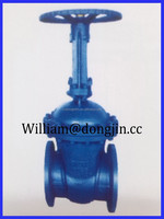 DIN Gate Valve Cast Iron Resilient rising stem 6 inch gate valve Seated Flanged DIN gate valve drawing
