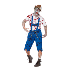 Sexy Men Cosplay Costumes Adult Halloween Horror Blood Zombie Costume
