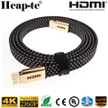 Premium Gold 4K*2K HDMI Cable Supports Ethernet, 2.0v 1.4v 3D and Audio Return 6 Feet/1.83Meter Type A to Type A Flat Cable