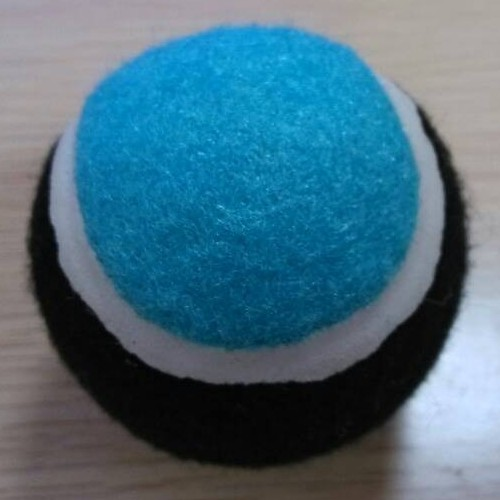 Rubber Squeaky Ball Dog Toy Color Green