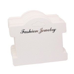Logo custom made bracelet earrings necklace jewelry display packaging cards tags