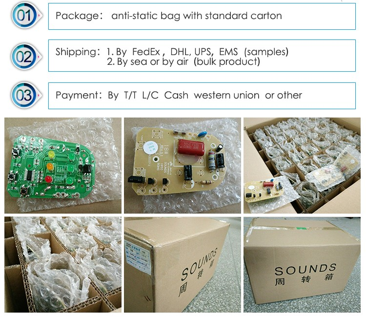 humidifier electronic circuit board pcb assembly