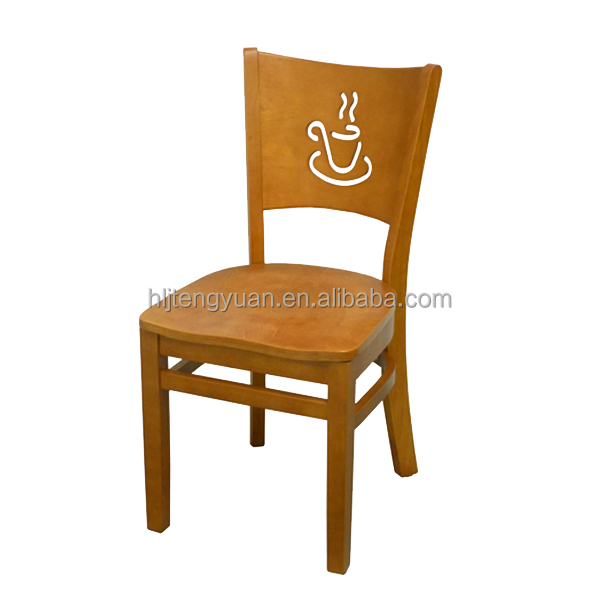 T236 Cheap Rubber Wooden Cafe Chair