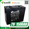 Bluesun Cycle life 500 times Cycle life 12V 2000AH battery batteries for solar system