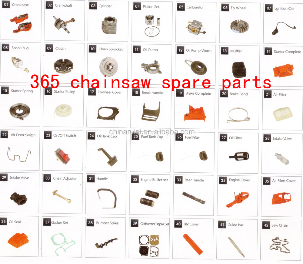 52cc 58cc 45cc chainsaw spare parts - single starter complete