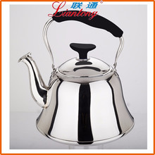 2L 0.5mm thickness SUS201 stainless steel antique kettle with steel lid