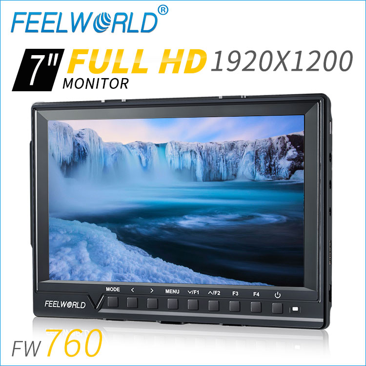 "7"" IPS 4K HDMI slim top Full HD camera monitor price"