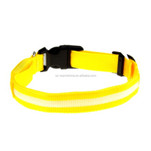 colorful series pet collar reflective light dog collar