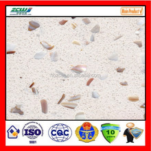 solid surface big discount seashell artificial quartz stone slabs countertops