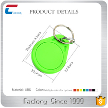 RFID 13.56MHZ MIFARE Classic EV1 1K /4K ABS door lock key fob with laser craft and silk screen printing