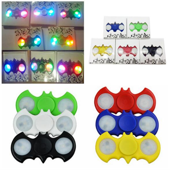 The Cheapest Hand Spinner Batman Hand Spinner Toy With Led Light for Kids and Adults