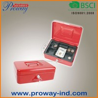 Steel Metal Cash Box Portable Cash