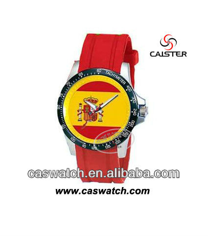 2014 world cup silicone watch with flag ,customize logo