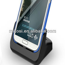 New designed dual desktop cradle docking station for galaxy note 2 n7100