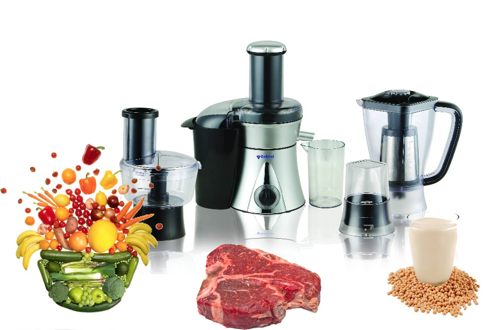 Chinese hot selling CE and CB multi-functions plastic food processor for kitchen use VL-5888B