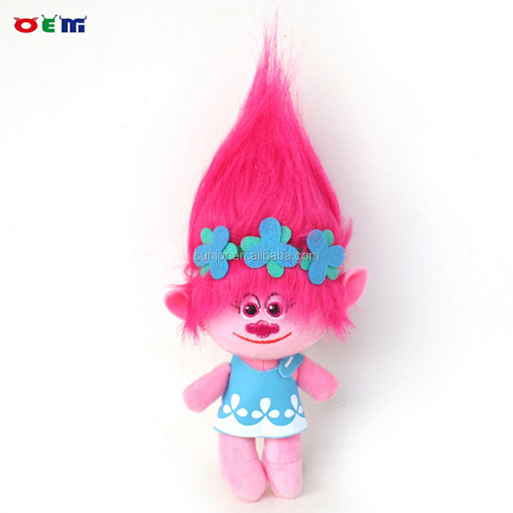 Wholesale Custom Stuffed Trolls Toy Plush Trolls Doll