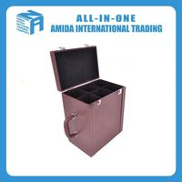 Wholesale preferential promotion double row red wine box