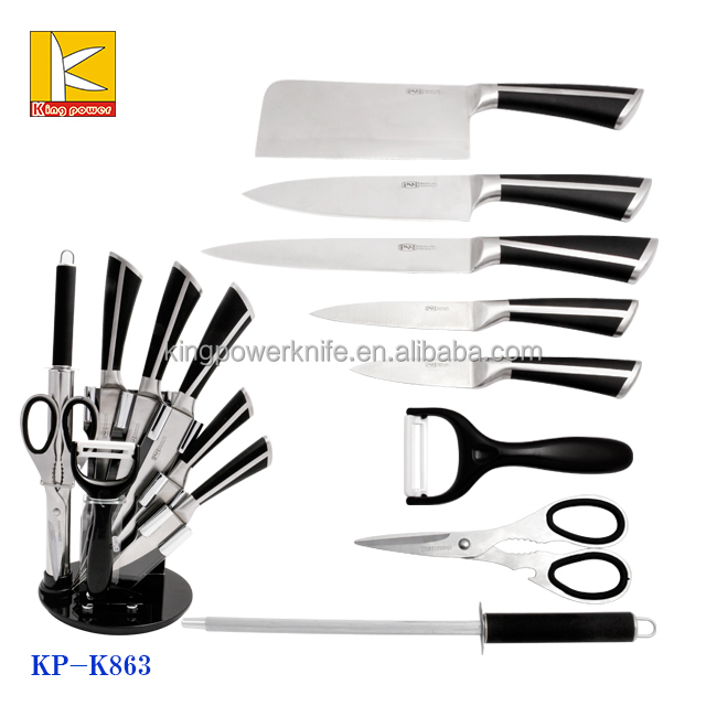 9 pcs Stainless Steel Hollow Handle Knife set with Block