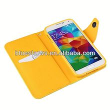 clip leather case for samsung galaxy s5 High quality mobile phone accessories